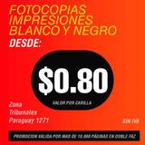 Impresiones Fotocopias Blanco Negro Color Paraguay 1271