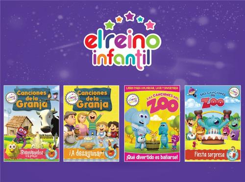 4 Libros Para Colorear Canciones De La Granja Zenon Y Zoo En Venta