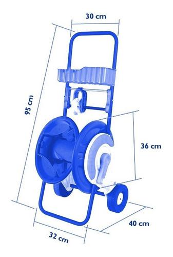Carro Enrollador De Manguera Aquaflex 1/2 Pulgada X 60 M