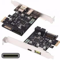 Placa Pci E Usb C 3.1 Y 3.0 Carga Rapida 19 Pins Usb Frontal