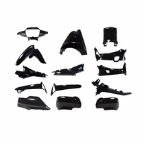 Kit Plasticos Honda Wave 14pcs Gris Oscuro Y/o Negro