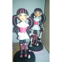 Monster High Draculaura Adorno Torta En Porcelana Fria
