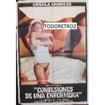 Afiche Confesiones De Una Enfermera - Ursula Andress - 1975