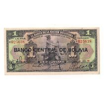 Bolivia Billete 1 Boliviano De 1911 Con Sello Banco Central