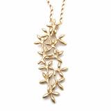 Acacia Collar Dije Flor - Baño de Oro