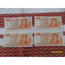 Lote 4 Antiguos Billetes Un Peso Ley 18188 Serie C Correlati