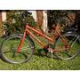 Bicicleta Roja Usada Con 18 Cambios Y Portaequipaje