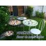Juego Jardin Exterior Mesa D=50cm + 2 Banquetas Venecitas