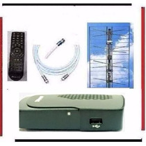 Kit Completo Tv Digital Tda Antena Panel Decodificador