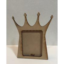 Porta Retrato Corona Rey Varon De Fibrofacil