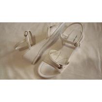 Sandalias Zapatos De Mujer Blancas Talle 36 Lady Comfort