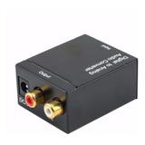 Conversor Audio Digital Coaxial O Fibra Optica A Rca