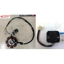 Stator De 4 Cables Y Regulador De Voltaje Brava Altino 150r
