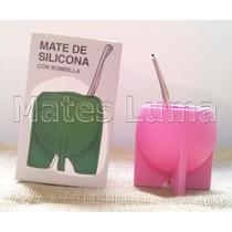 Mate De Silicona Con Bombilla