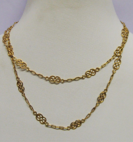 d878f8513dbd Hermosa Cadena Antigua Oro 18 K Macizo 53cm 6 Gr Impecable
