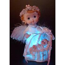 Angel De La Guarda Con Luz Nacimiento Bautismo Souvenir