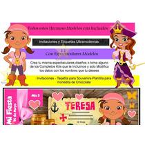 Kit Imprimible Candy Bar De Jake Y Los Piratas 2x1
