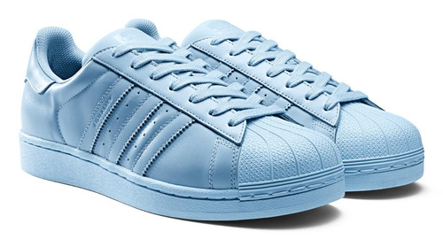 49d6dacb7e Zapatillas adidas Superstar Celeste Dama 100% Originales