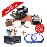 Combo Sublimación Epson + Papel + Estampadora 5 En 1 + Tinta