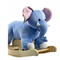 Mecedor Elefante De Peluche Con Sonido Original Jem Efelante
