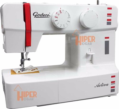 Maquina De Coser Godeco Activa 9 Diseños Zigzag Ojalador