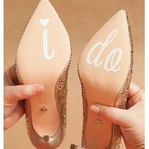 Sticker Vinilo Casamiento Boda Si Quiero Zapatos
