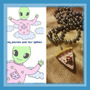 Collar Porcion Torta Frutilla Plastico Importado
