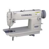 Máquina De Coser Industrial Typical Gc6281h Blanca 220v