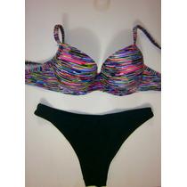 Bikini Malla Rayas Colores Colección Verano 2014