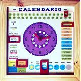 Calendario Perpetuo Reloj Hora Día Mes  Tiempo Estación Imán