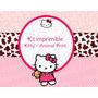 Kit Imprimible Kitty Animal Print - Candy Bar Kitty