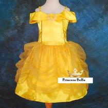 Único !! Disfraz Princesa Bella Extraordinaria Calidad Belle