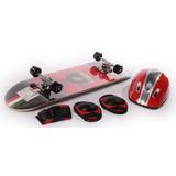 Skate Lamborghini Con Set De Protección Y Bolso D7312