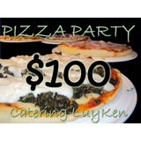 Luyken Catering, Pizza Party Con Manteleria Y Vajilla!