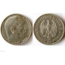 Moneda De 5 Marcos Plata De La Alemania Nazi
