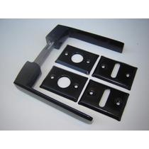 Picaporte Manija Biselada De Aluminio Doble Balancin