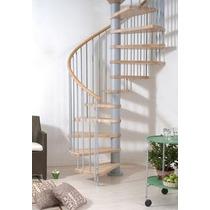 Escalera Caracol Hierro Madera En Kit Lea Interior Del Aviso