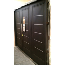 Portones Garage Nexo Premium Negro Libre De Mantenimiento