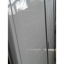 Porton De Abrir Aluminio Blanco 130x200 Marco Y Cerradura