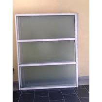 Porton 3 Paños Aluminio Blanco