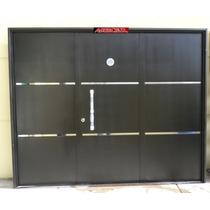 Porton Garage Chapa Abrir Apliques Y Barral 240x200 Tc07