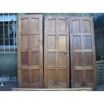 Excelente Porton De Madera 3 Hojas C/marco !!! Ideal Garage