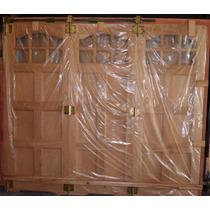 Porton Madera Cedro Garage Corredizo 250x208 Tm-002