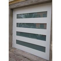 Portón Levadizo Paneles De Vidrio No Trans Calidad P/ Autom.