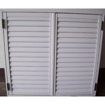 Postigo Celosía P/ Ventana 150x110 Aluminio Blanco 2 Hojas