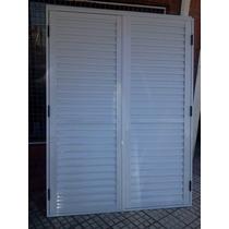 Postigon De Aluminio Blanco, 2 Hojas De Abrir De 150x200
