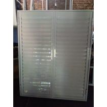Postigon De Aluminio Blanco 120x200 2 Hojas