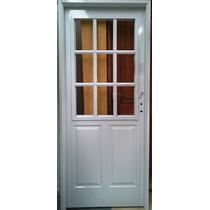 Puerta Pesada Blanca 1/2 Reja Inyectada 80 Cm Pavir Chapa 18