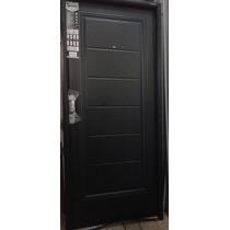 Puerta Doble Chapa Inyectada Negra Nexo Con Manijòn Buñas