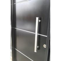 Puerta Chapa Inyectada Premium Aluminio Barral Aberturas Leo
